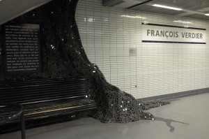 Station de métro François Verdier. Oeuvre de photo A. Mila