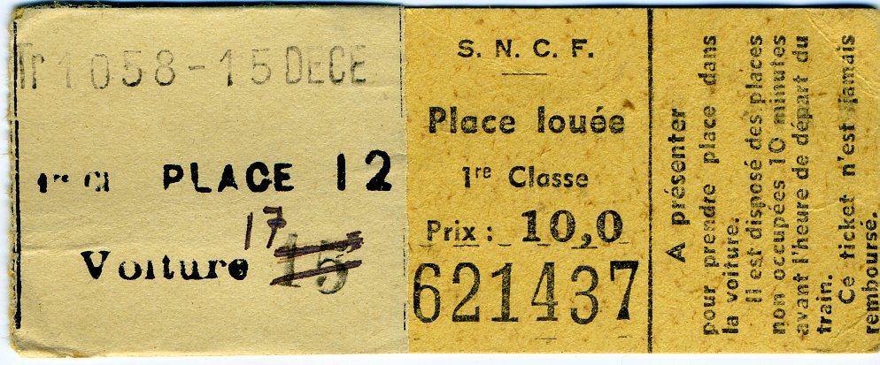 Agenda FV 1943 - resa 1ere classe sncf