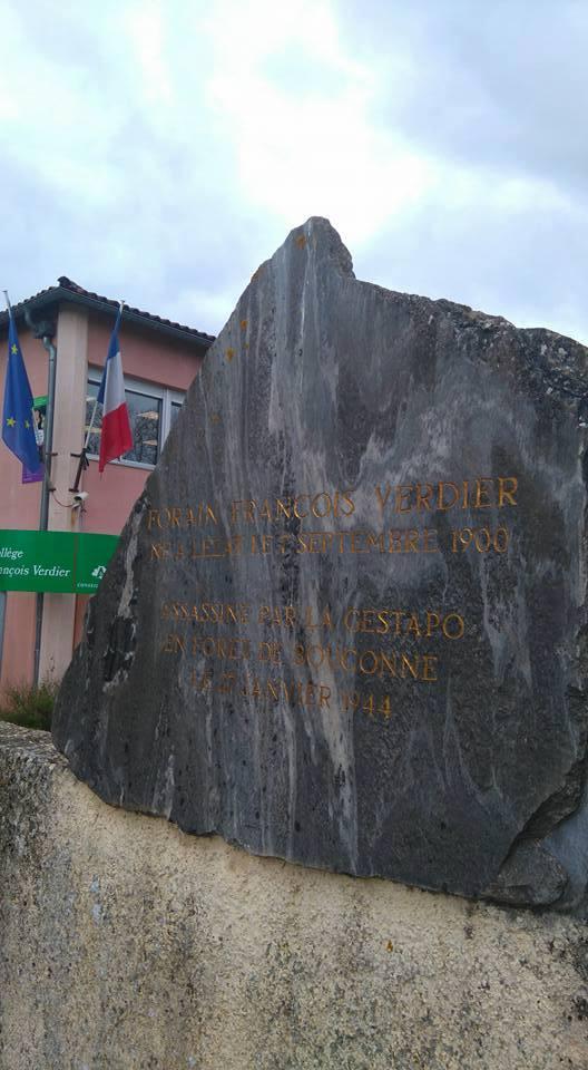 Entrée du collège François Verdier de Lézat-sur-Léze (Ariège)
