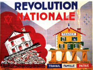 affiche Revolution Nationale les fondati