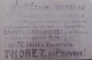 Tract trouvé dans le dossier judiciaire d'Yves Bettini, tract saisi chez ses parents. Archives départementales de la Haute-Garonne
