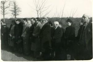 cérémonie 1949, seule photographie en présence de Jeanne Verdier