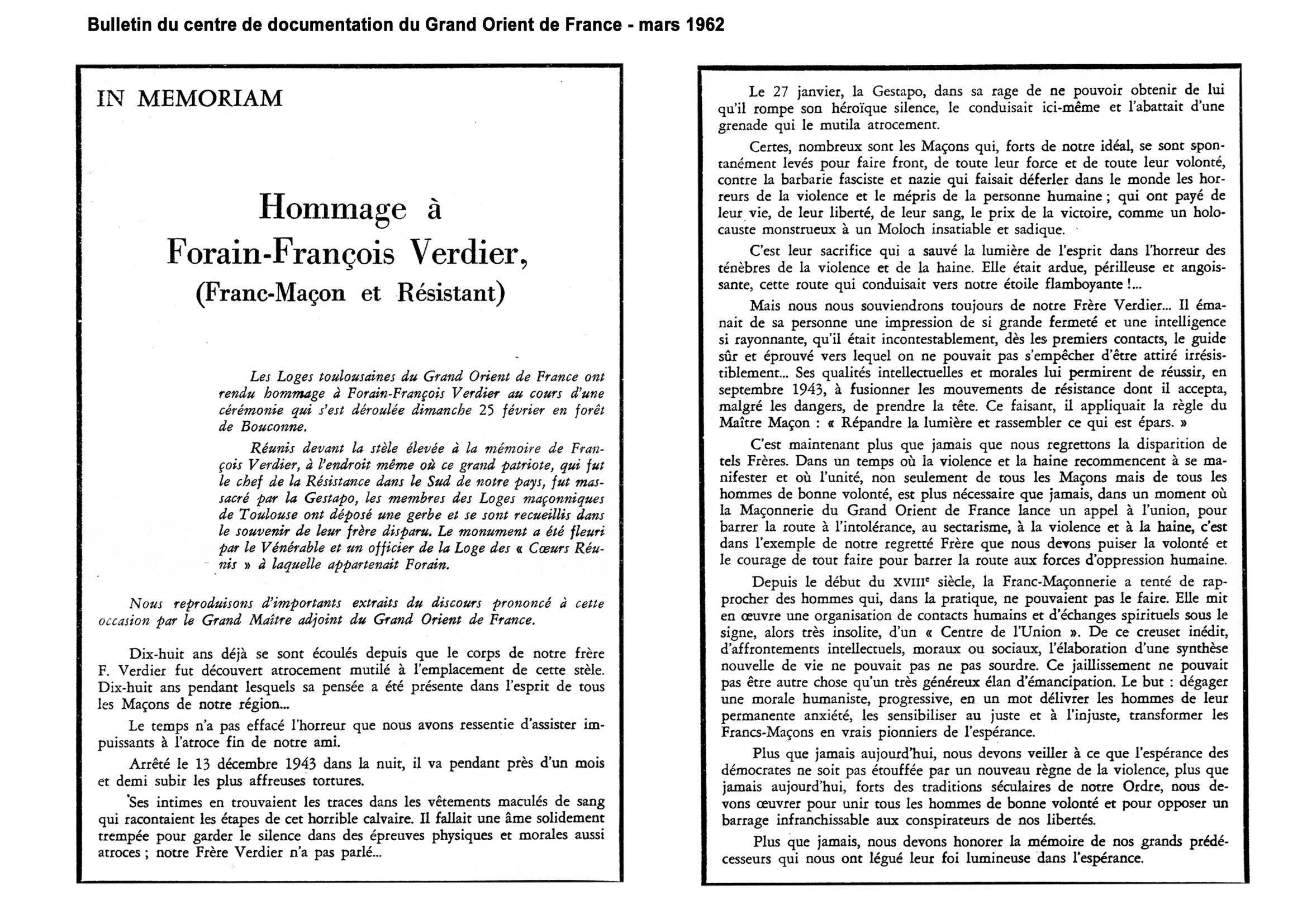 1962 extrait de Discours du GOF