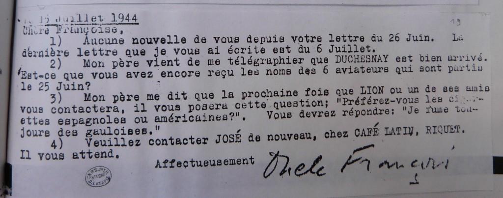 Télégramme d'Oncle François, Archives départementales de la Haute-Garonne