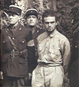 Georges P. et le gendarme Teboul en août 1944. Photo Jean Dieuzaide
