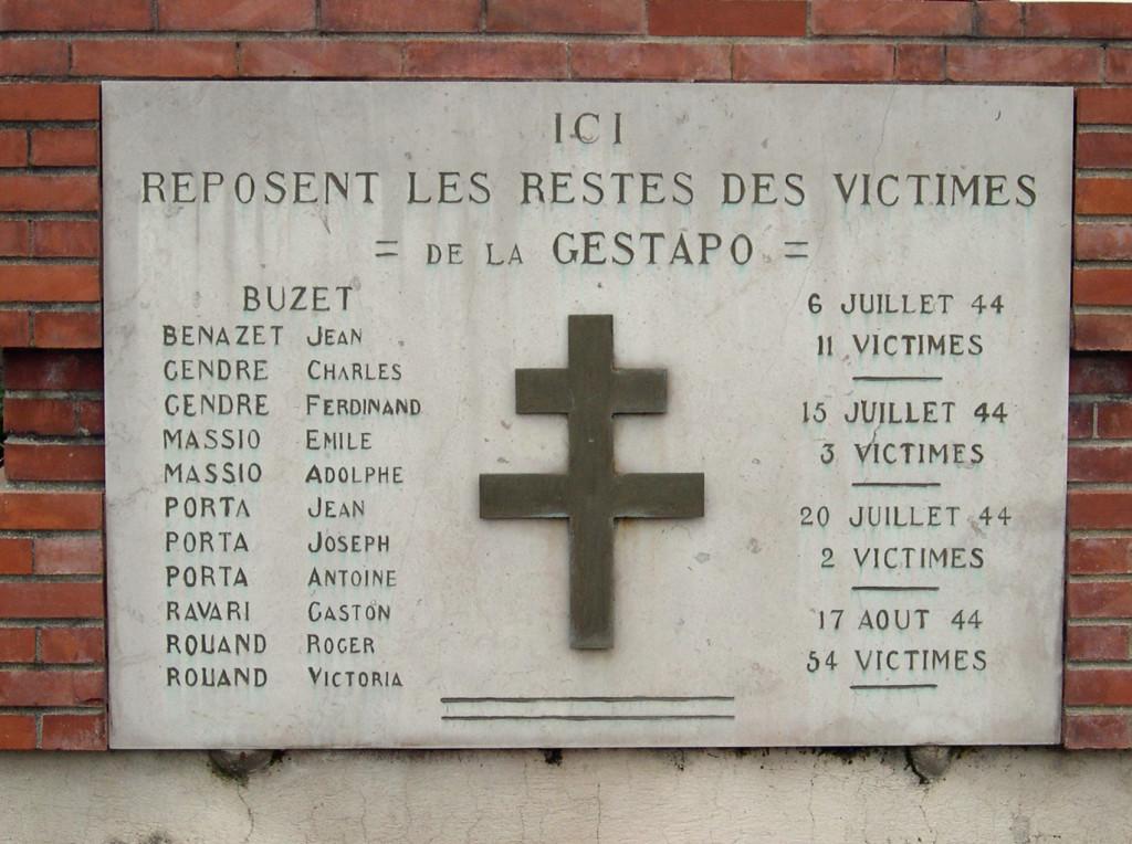 Buzet monument des fusillés liste866