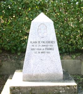 Stèle du FFI Alain de Falguière