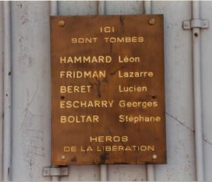 GESTAPO siège plaque