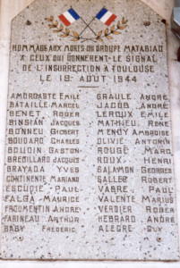 Matabiau héros 19 aout 1944