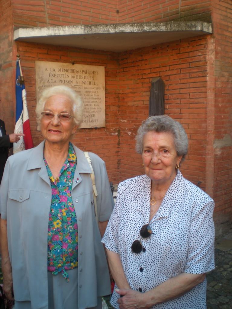 Conchita Ramos et Angèle Bettini. Conchita fut arrêtée pour ses activités de résistance puis déportée au camp de Dachau par le convoi du Train fantôme en juillet 1944. Angèle était la plus jeune femme de la prison quand elle a été arrêtée en décembre 1940, elle a ensuite été déportée dans les camps du Récébédou, de Brens et de Gurs.