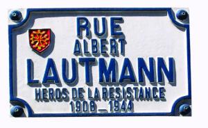 On notera l'erreur dans l'orthographe du nom d'Albert Lautmann, erreur récurrente dans de nombreuses archives. Cette plaque est aposée près de l'ancienne faculté de letrres.
