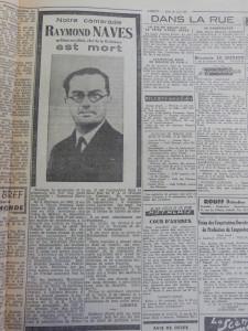 """Journal """"Liberté Soir"""" du 26 avril 1945 Collection ADHG"""
