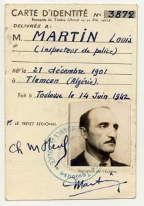 Fausse carte de policier de Louis Pelissier