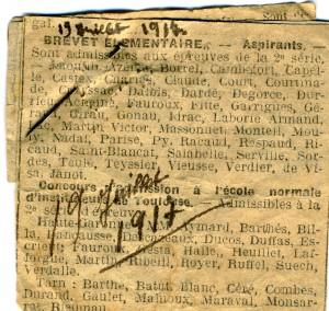 Article découpé et précieusement conservé par la fille de François Verdier
