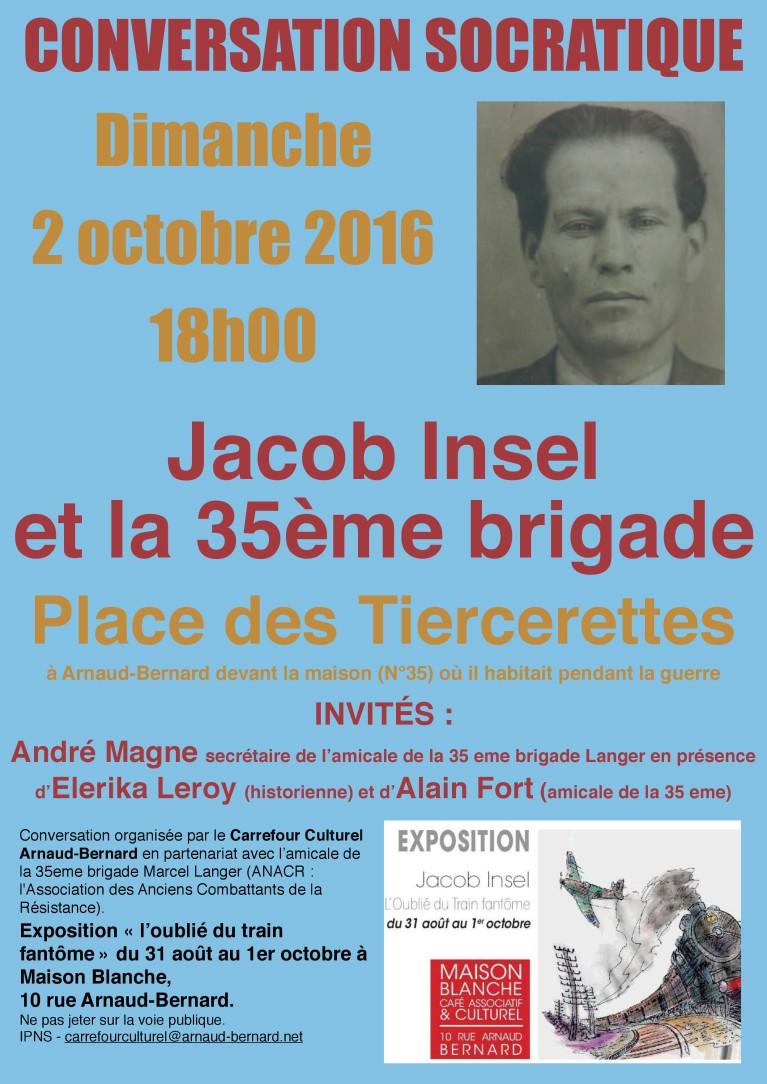 Conversation Socratique Jacob Insel et la 35e